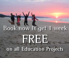 Get one week free on any of our education volunteer projects